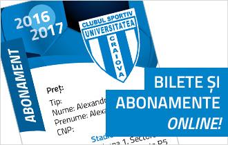 Bilete și abonamente online Universitatea Craiova