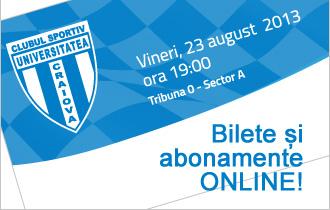 Bilete și abonamente online CS Universitatea Craiova
